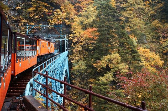 黒部峡谷のトロッコ電車